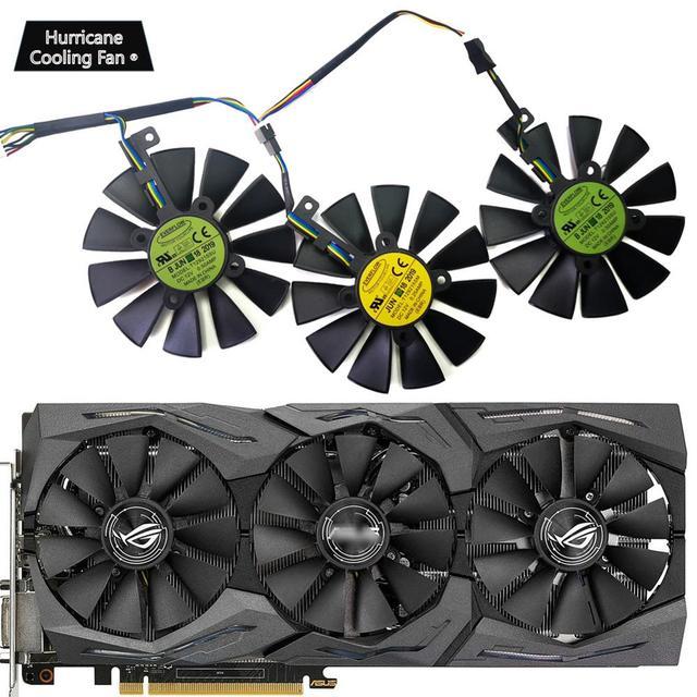 New 87MM T129215SU Graphics Card Cooling Fan for ASUS STRIX GTX 1060 1070 1080 1070Ti 1080Ti 980Ti /R9 390X R9 390 RX 480 580