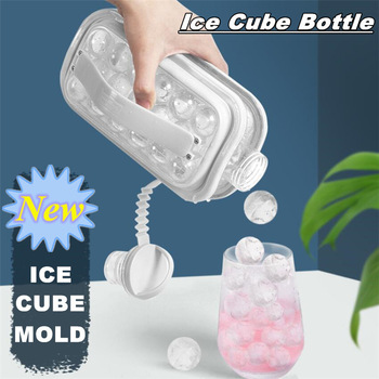 Portable Ice Cube Mold Bottle 2 In 1 globular Ice Tray Ice Cube Ice Maker Mold Reusable Cooler Ice Frozen Storage Container silicone hot water bottle cute cat design hand warmers cooler reusable heating ice cooling muscle injury ice compress gift