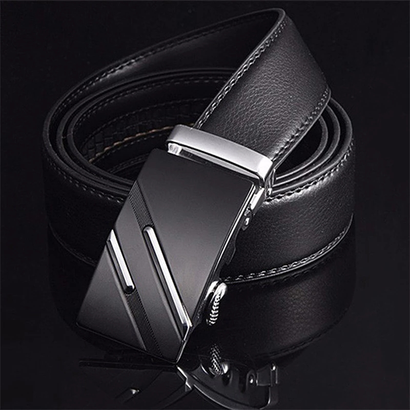 Belt Men Top Quality Genuine Luxury Leather Belts for Men,Strap Male Metal Automatic Buckle