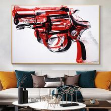 Andy warhol Абстрактная Живопись пистолет настенные фотографии