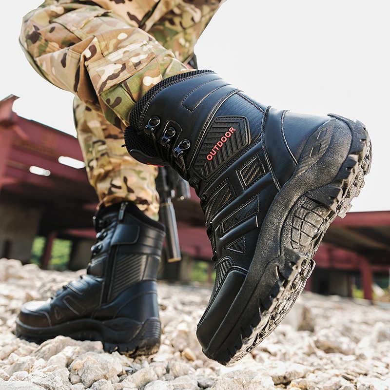 Herbst/Winter Militärische Taktische Herren Stiefel Größe 39-47 Special Force Wasserdicht Wüste Kampf Stiefeletten Armee Männer der Arbeit Schuhe