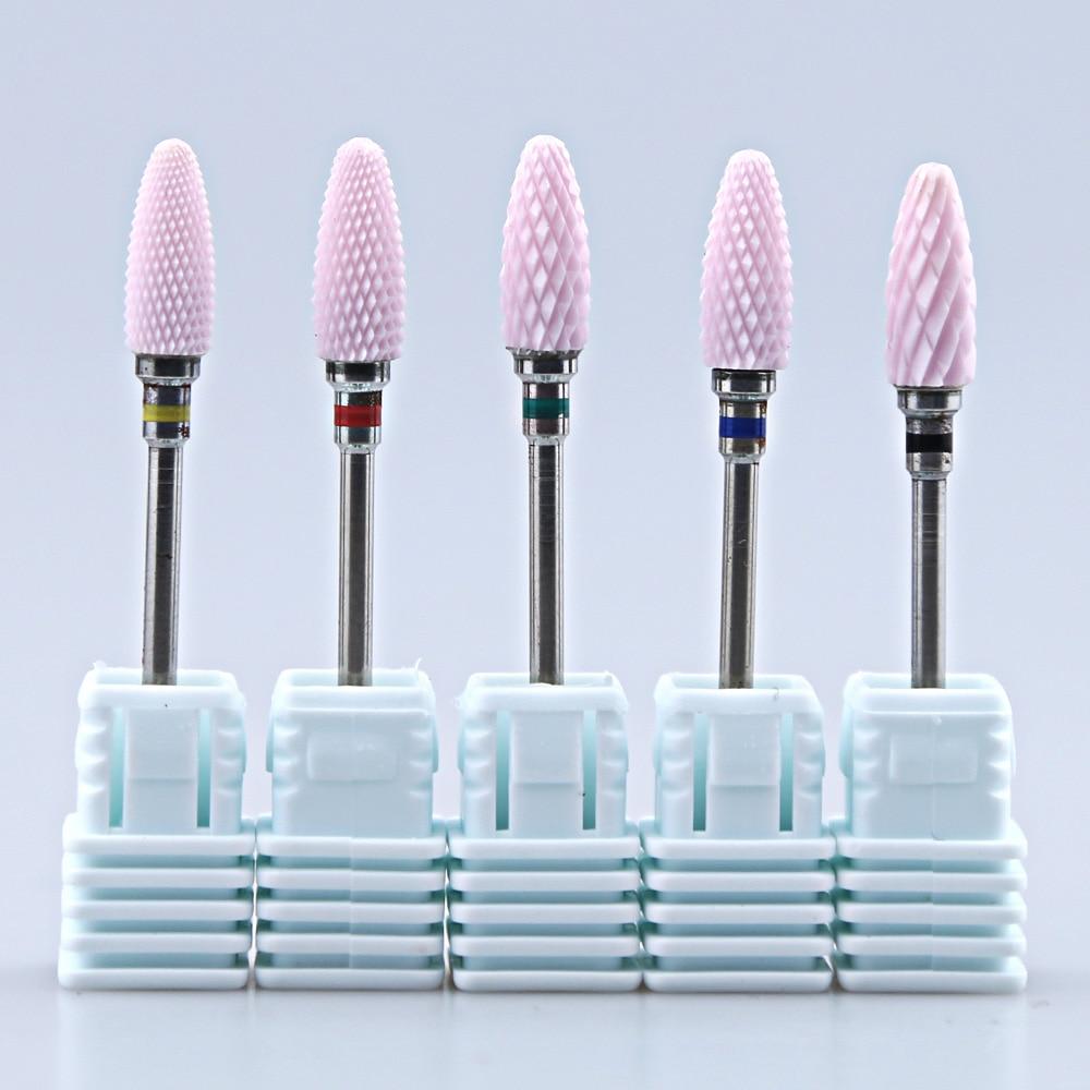 Ceramic Nail Drill Bit Milling Cutter Rotary Burr Manicure Pedicure Drill Machine Accessory Nail Art Tools