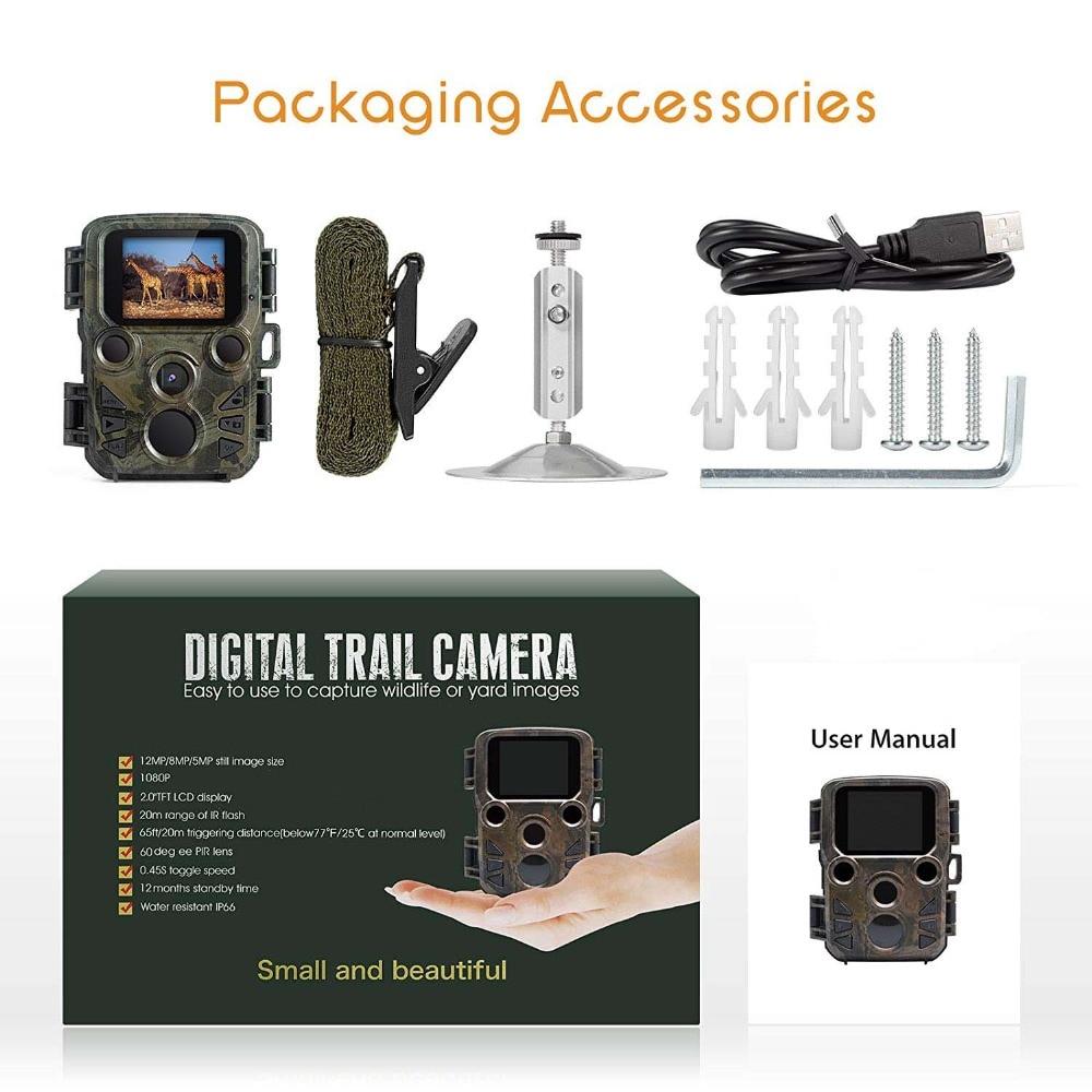 H052dcd7388684bd7baab1eb94a943f02O - 16MP 1080P Mini Trail Photo-traps IP66 Hunting Camera Game Trail Camera Outdoor Wildlife Scout Guard Wildcamera with PIR Sensor