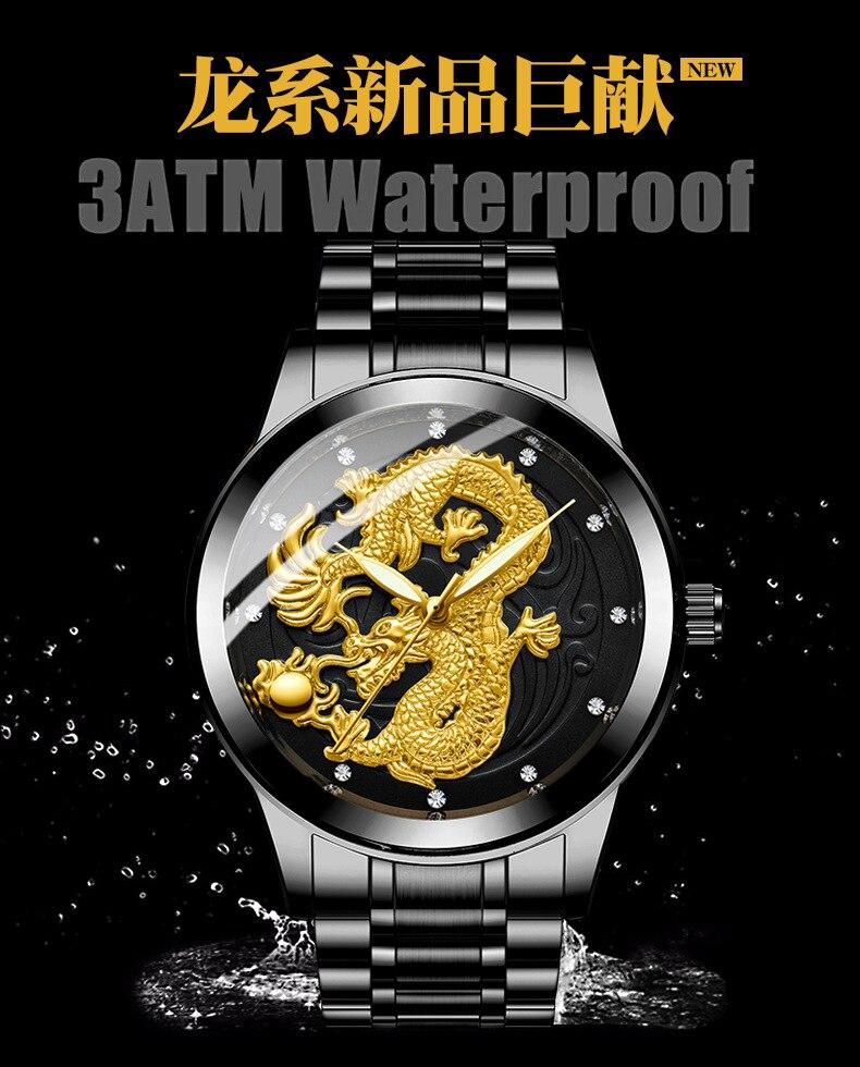 de quartzo de negócios all-steel relógio masculino relogio masculino
