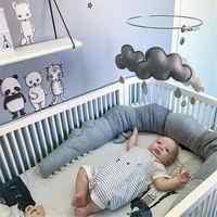 185cm Newborn Baby Bed Bumper Children Crocodile Pillow Bumper Infant Crib Fence Cotton Cushion Kids Room Bedding Decoration Acc