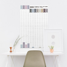 Coloffice 2020 New 365 days Planner Calendar Wall With Sticker Creative Learning Self-discipline Stationery 1PC