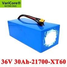 VariCore – batterie pour moto et tricycle électrique, 36V, 30ah, 10S6P, 42v, 30a, avec Protection BMS, 21700 W, 500W, 800