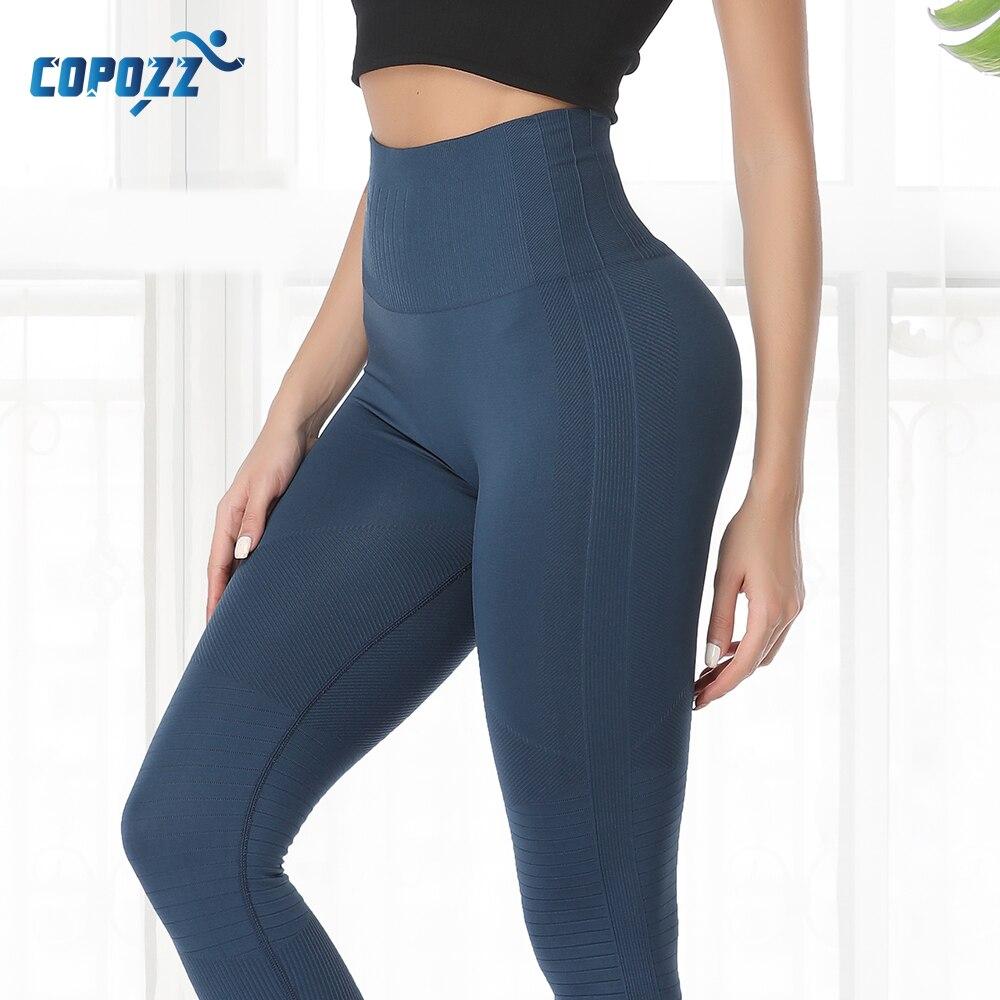 Women Yoga Pants High Waist Elastic Tummy Fitness Sport Leggings