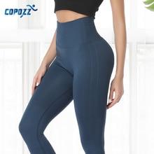 Women Yoga Pants High Waist Elastic Tummy Fitness Sport Leggings Tight