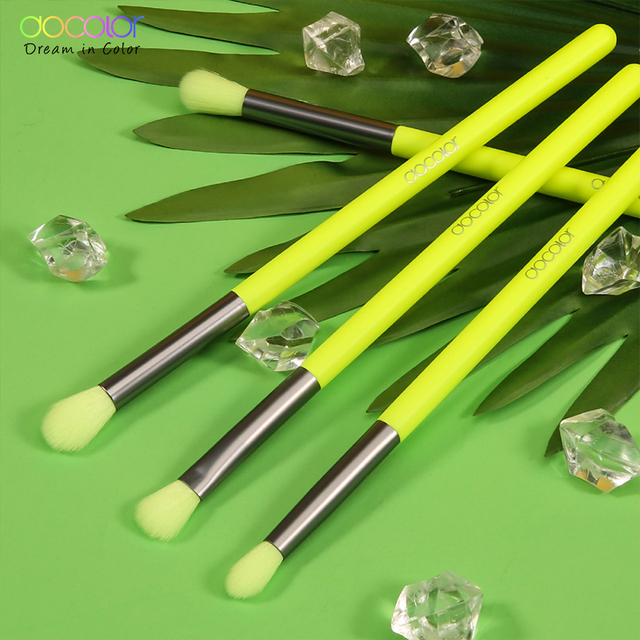 Docolor Makeup Brushes Set 4pcs Eye Shadow Blending Eyeliner Eyelash Eyebrow Make up Brushes Professional Eyeshadow Neon Brush 2