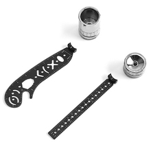 Magnet Ruler-Tool Measuring Drawing-Ruler Compass-Pattern Scale Multifunctional