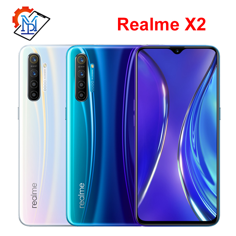 Realme x2 celular 6.4 polegada super amoled tela 6 gb ram 64 gb rom snapdragon 730g câmera 64.0mp quatro tiro nfc smartphone on AliExpress - 11.11_Double 11_Singles' Day