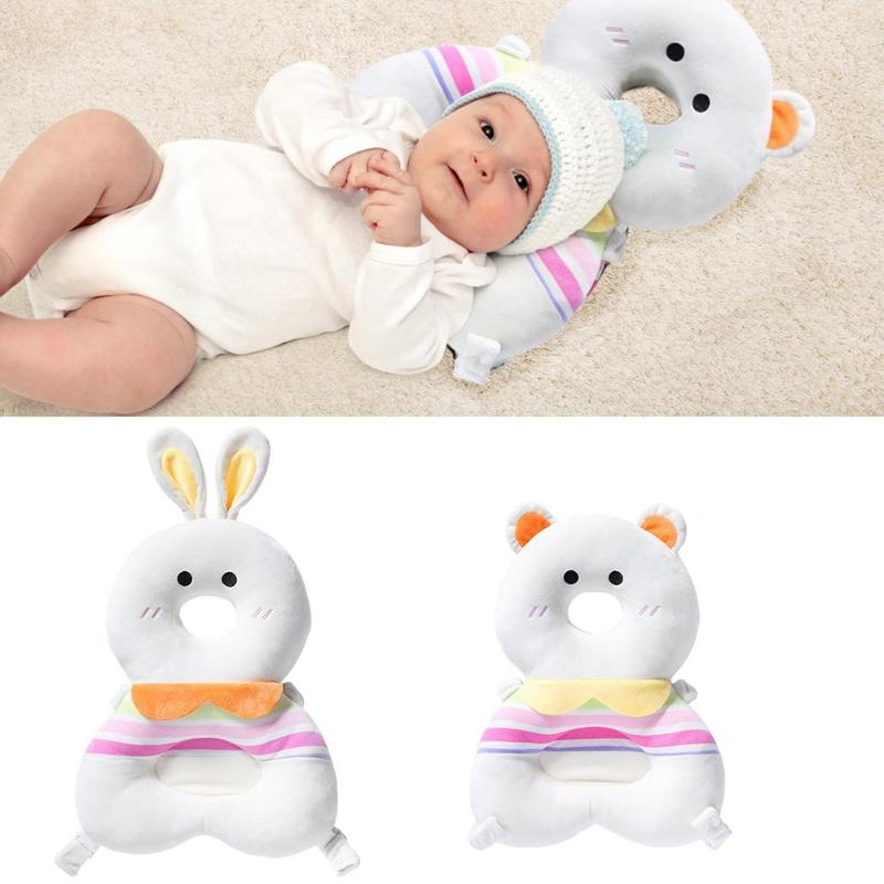 2 In 1 Large Baby Head Protect Pad Breathable Toddler Crystal Velvet Comfortable Not Easily Deformed Anti-fall Headrest Pillow