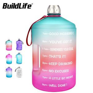 BuildLife Gallon Water Bottle 13.L 2.2L 3.78L PETG BPA Free Handgrip Portable Outdoor Sport Fitness Jug Tour Drinking Bottles