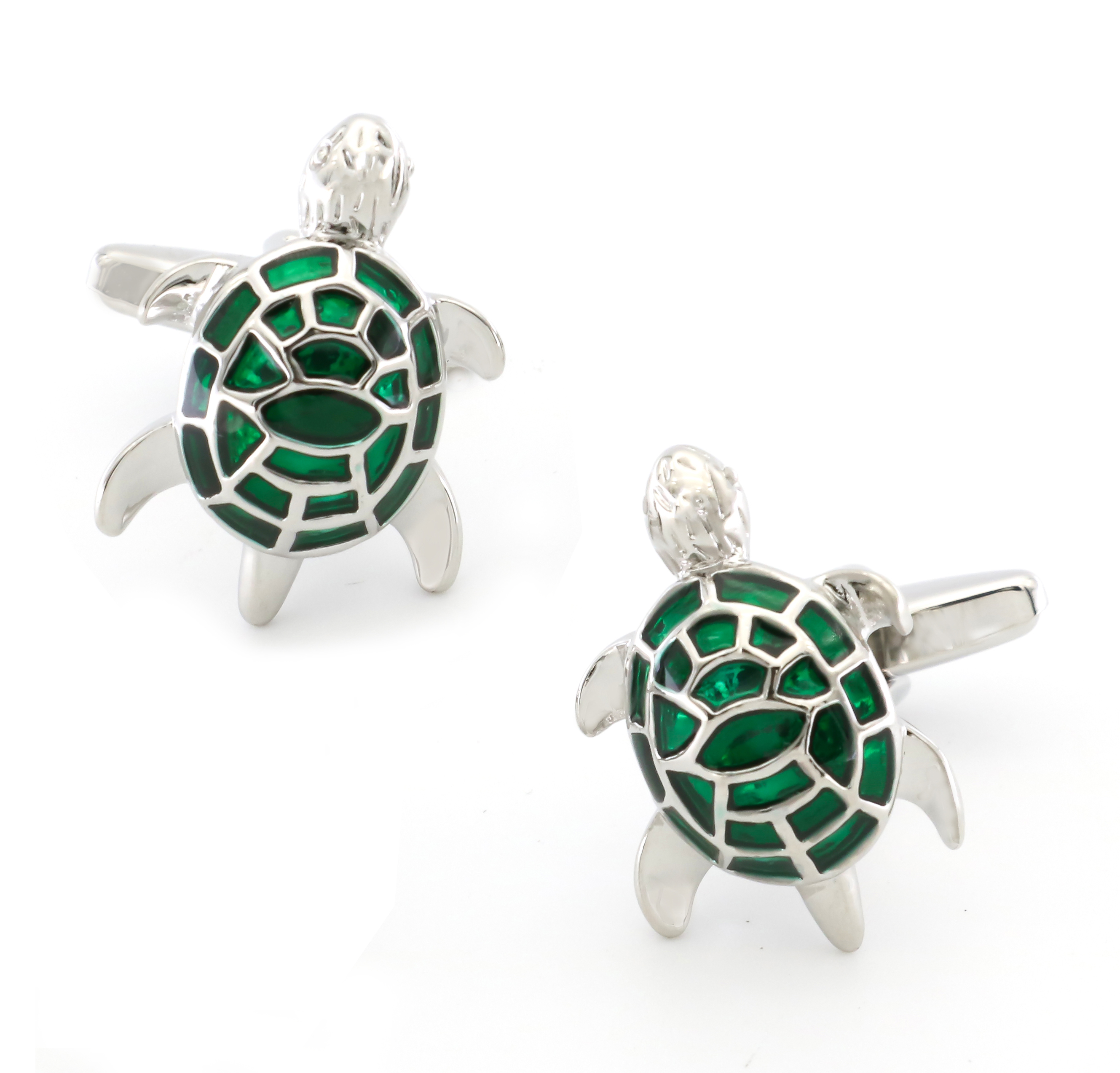 Turtle Cuff Links For Men Tortoise Design Quality Brass Material Green Color Cufflinks Wholesale&retail