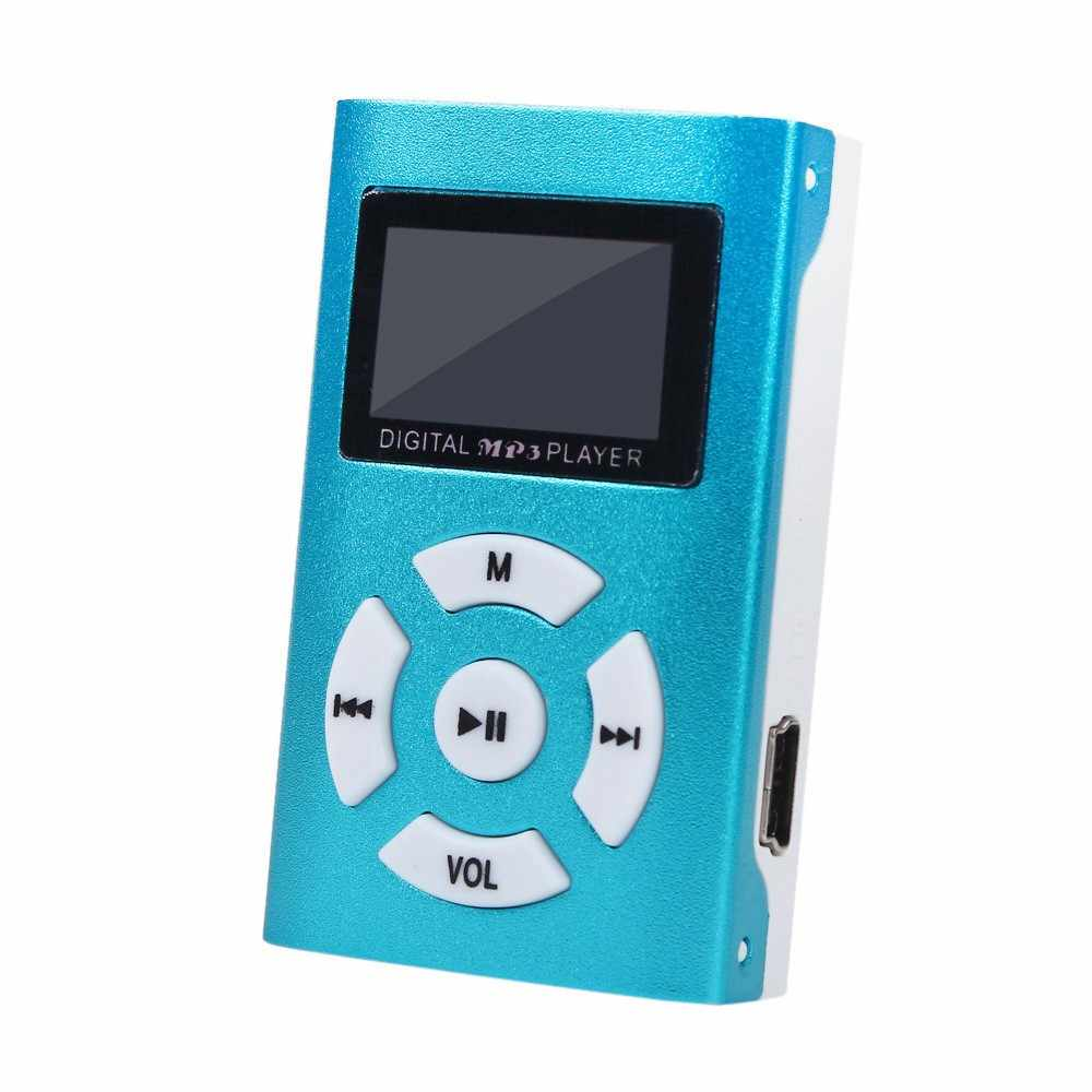 Mini reproductor de MP3 USB de pantalla LCD de 3,5mm estéreo Jack de alta calidad Walkman compatible con tarjeta Micro SD TF de 32GB #10