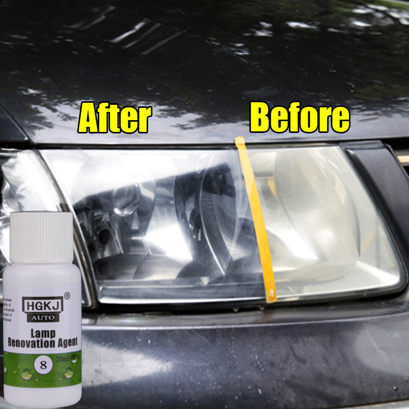 20ml HGKJ Auto Car Accessories Polishing Headlight Agent Bright White Headlight Repair Lamp Cleaning Window Glass Cleaner