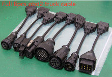 Full 8pcs obd2 truck cable for delphis vd ds150e for autocome tcs cdp pro plus multidiag pro+MVDIAG WOW SNOOPER