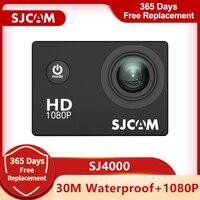 SJCAM-Cámara de acción deportiva SJ4000, DV, 2,0 pulgadas, buceo, 30M, impermeable, casco extremo, minicámara SJ 4000, cámara HD 1080P