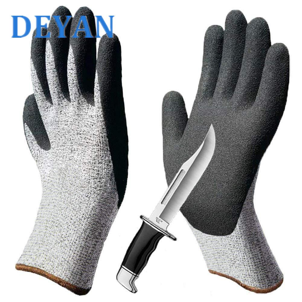 Level 5 Cut Resistant Gloves HPPE Industrial Prick Resistant Gloves Anti Cut Work Gloves For Gardening Hand Protection