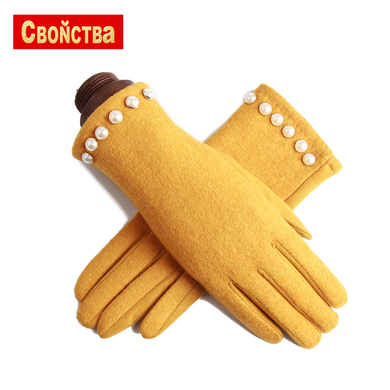 Fashion Touchscreen Women Winter Cashmere and suede Warm Gloves female gloves Mobile Phone Women Winter fashion mittens guante