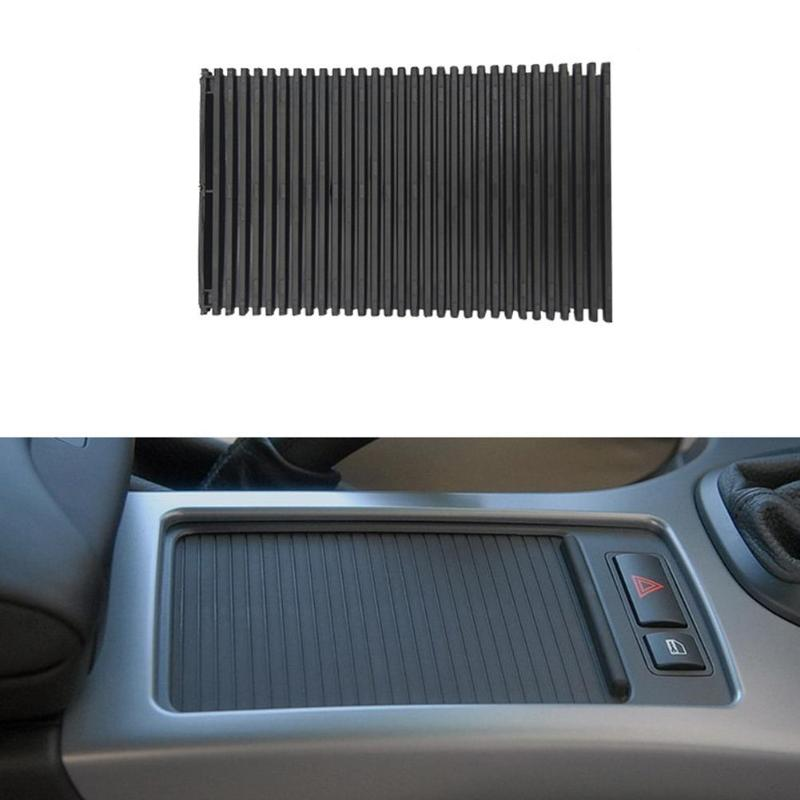 VODOOL Car Center Console Cover Roller Blinds Armrest Cup Holder Storage Box Sliding Shutters Curtain For BMW X5 E53 1998-2006
