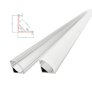 Image 1 - 1 30pcs 50cm LED Bar Light Housing V Shape Triangle Aluminum Profile Mikly Clear Cover Connector Clip Channel for 12mm PCB Strip