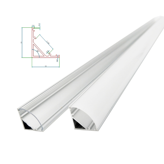 1 30pcs 50cm LED Bar Light Housing V Shape Triangle Aluminum Profile Mikly Clear Cover Connector Clip Channel for 12mm PCB Strip