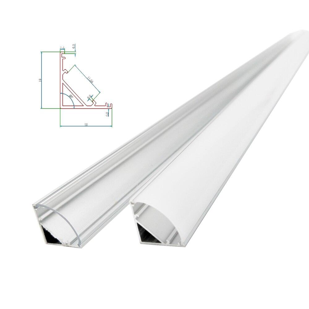 1-30 шт. 50 см светодиодный бар светильник Корпус V Форма Тип 45 треугольный алюминиевый профиль Mikly прозрачный Уголок канал для детей возрастом ...