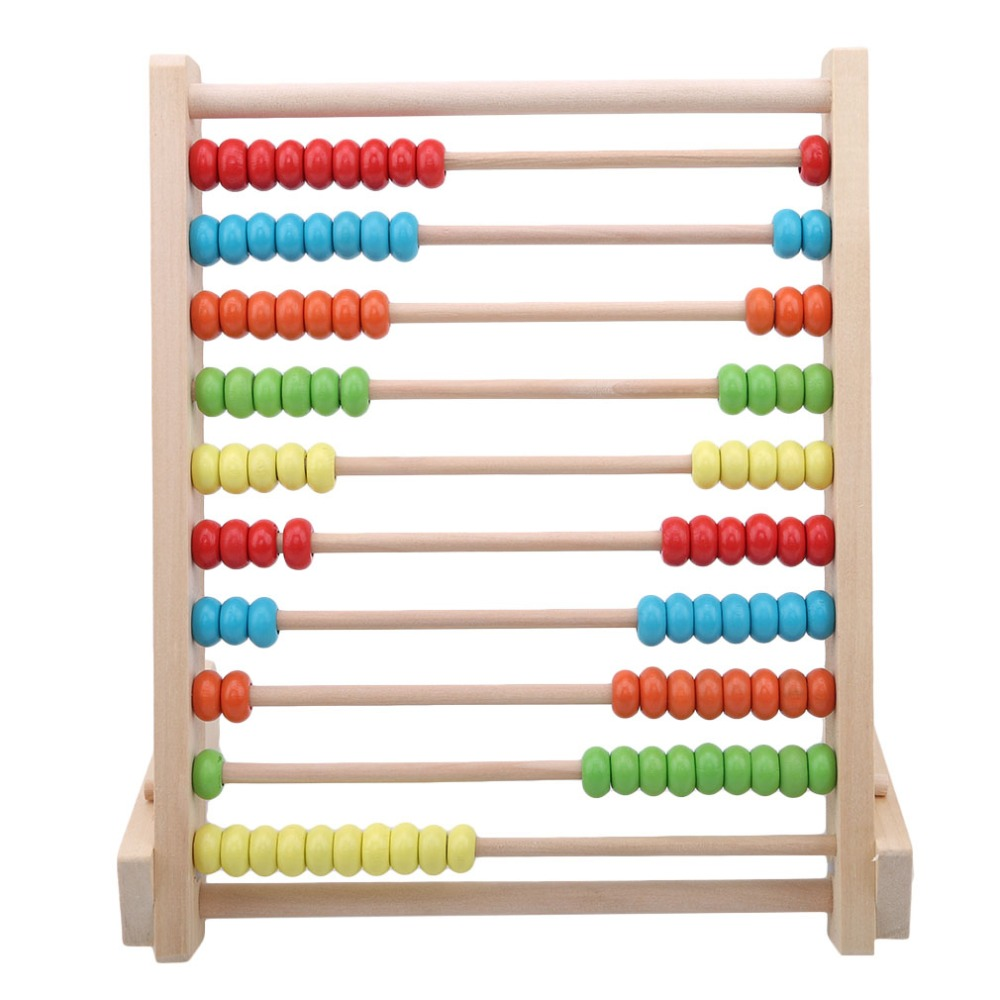Children Wooden Abacus Toys Small Calculator Handcrafted Educational Children's Calculating Beads Early Learning Education Toy