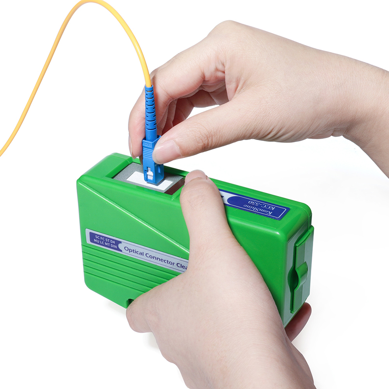 Fiber End Face Cleaning Box Fiber Wiping Tool Pigtail Cleaner Cassette Fiber Cleaner,Fiber Optic Tools Cleaner Ftth