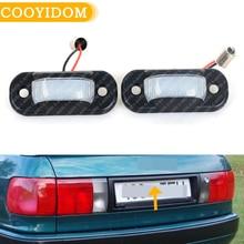 2PCS LED License Plate Light For Audi 80 B4 1991 1995/For Cabridet (type 8g) 1991 2000/For 100 C4 1990 1994/For A6 C4 1994 1997