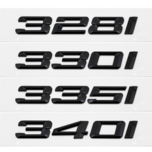المعادن/البلاستيك السيارات التصميم السيارات ثلاثية الأبعاد إلكتروني الجذع الخلفي ملصق شعار مائي لسيارات BMW 328i 330i 335i 340i 3 سلسلة GT X3 Z3 E39 E38