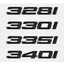 Metal/z tworzywa sztucznego Car Styling Auto 3D list bagażnika tylna naklejka naklejki z literami i cyframi dla BMW 328i 330i 335i 340i serii 3 GT X3 Z3 E39 E38
