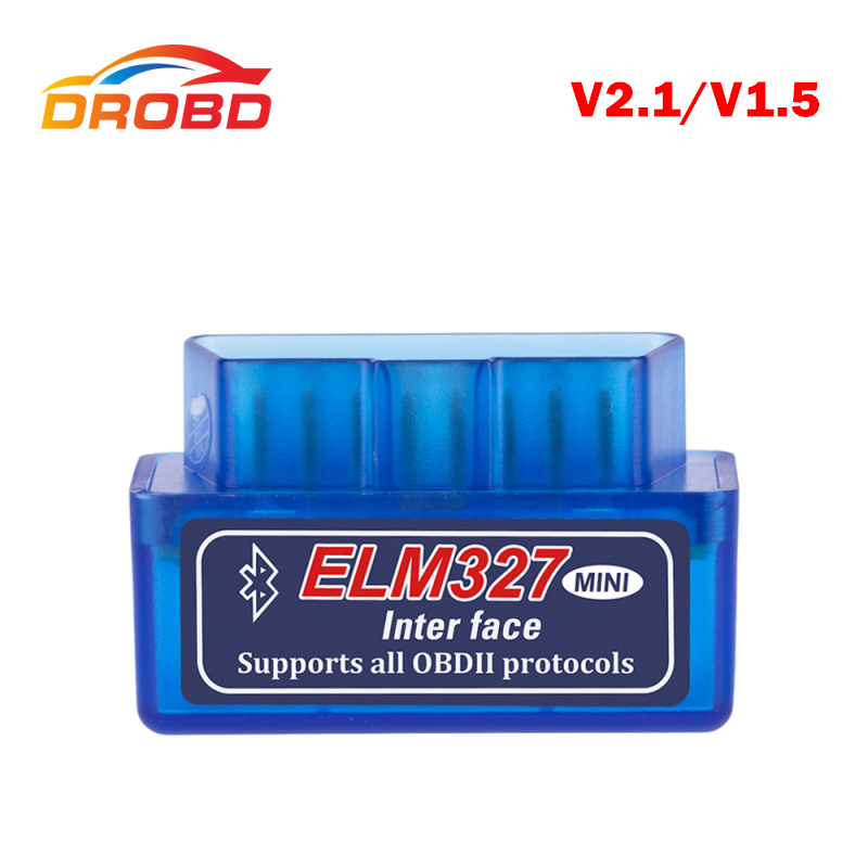 Super Mini ELM327 Bluetooth V2.1 / V1.5 OBD2 Scanner Car Diagnostic Tool ELM 327 Bluetooth for Android Automotive Scanner