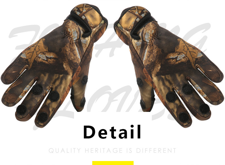 Facecozy Outdoor Winter Fishing Gloves Waterproof Three or Two Fingers Cut Anti-slip Climbing Glove Hiking Camping Riding Gloves