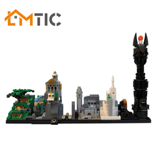 Toys Simpsons Breaking Bad Back-To-The-Future Building-Blocks Skyline Club-Model Gift