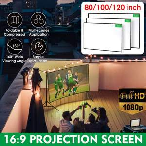 Image 2 - BlitzWolf BW VS2 Portable Projector Screen Simple Curtain 80 inch/100 inch/120 inch Polyester with Foldable & Compressed 1080P