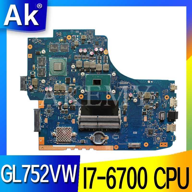 ROG GL752VW scheda madre Con I7-6700CPU N16P-GX-A1 mainboard REV2.0/REV2.1 Per For Asus GL752V GL752 FX71PRO scheda madre del computer portatile