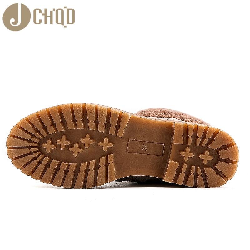 JCHQD 2019 European Style Boots Women High Quality Shoes Women Short plush snowboots with warm interior European sizes 36-42 39