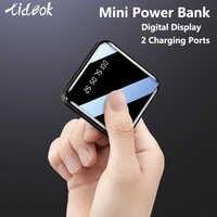 Mi ni 20000mAh Power Bank dla iPhone 8 Xiao mi mi Powerbank Powerbank ładowarka dwa porty usb zewnętrzna ładowarka do baterii przenośna