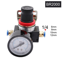 BR2000 3000 4000 Free Shipping air filter lubricator Air processor Pressure Regulator 1/4