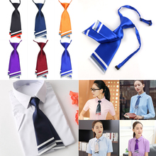 1pcs new Women Men Tie Stripe Grids Checks Pre-tied Necktie