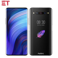 EU Version ZTE Nubia Z20 Dual SIM 4G Mobile Phone 8GB RAM 128G ROM Snapdragon855+ 6.421080x2340P Dual Screen Phone Android 9.0
