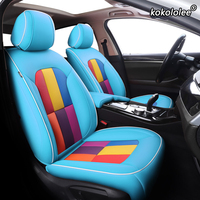 kokololee Custom Leather car seat covers set For PEUGEOT 301 307 408 308 308s 508 3008 2008 4008 5008 seats cover cars protector
