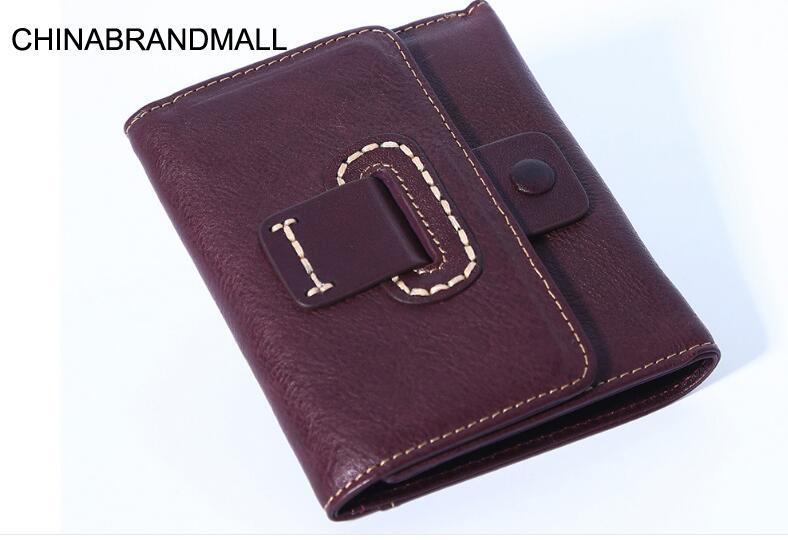 Короткий кошелек унисекс из коровьей кожи, кошелек для монет, держатель для карт
