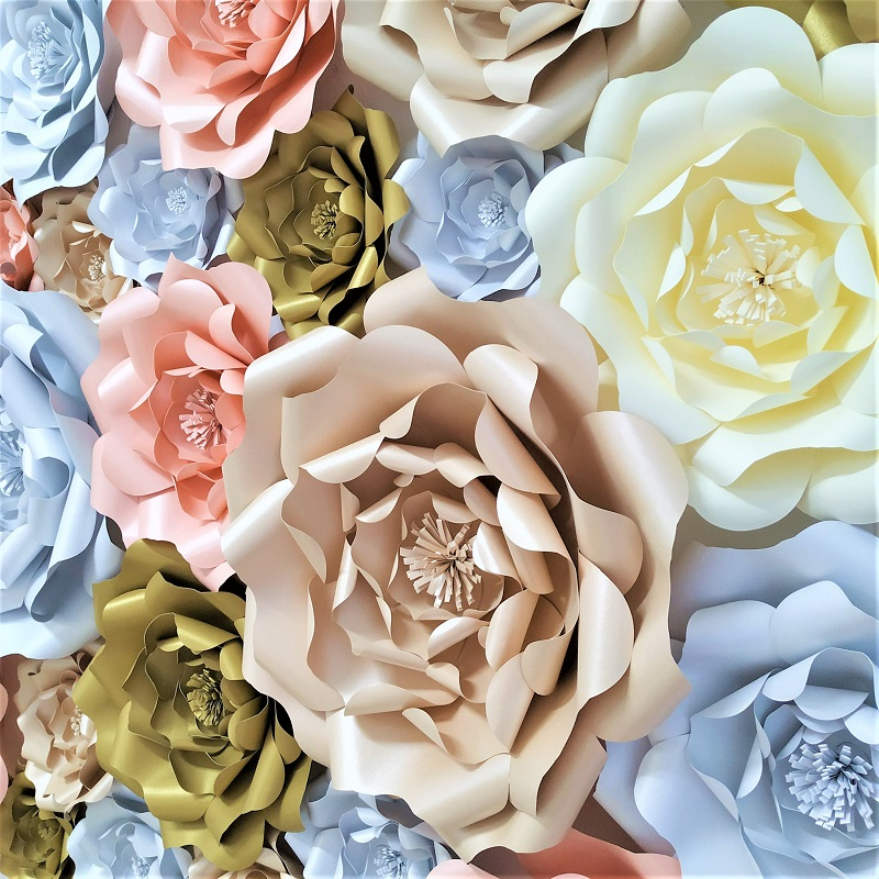 2018 DIY Large Rose Giant Paper Flowers For Wedding Backdrops Decorations Paper Crafts Baby Nursery Birthday Video Tutorials