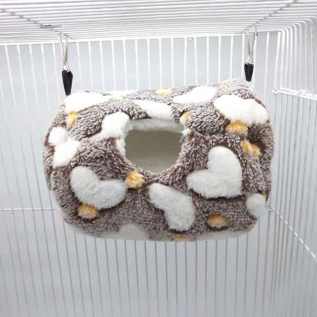 Parrot Nest Bed Winter Plush Warm Hanging Cave Cage Hammock House for Hamster 1