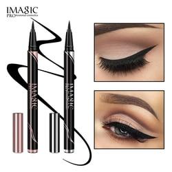 IMAGIC Waterproof Eyeliner Shine Eyeliner Matte Make Your Beauty Black Long Lasting Eyeliner Pen Makeup Cosmetic Tool