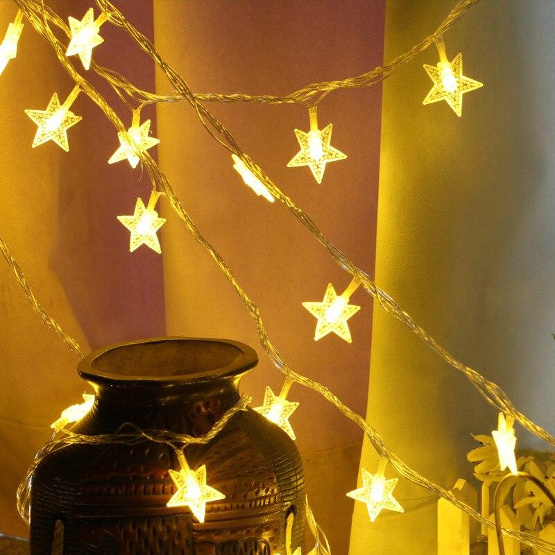 HBU LED Waterproof Stars Light String Wedding Party Led Decoration Lights Holiday Fairy Garland Lights 20M/10M/6M Christmas Lamp